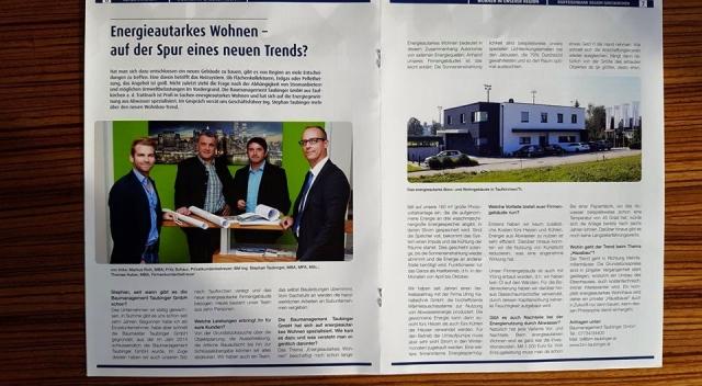 Bericht im Raiffeisen Kundenmagazin