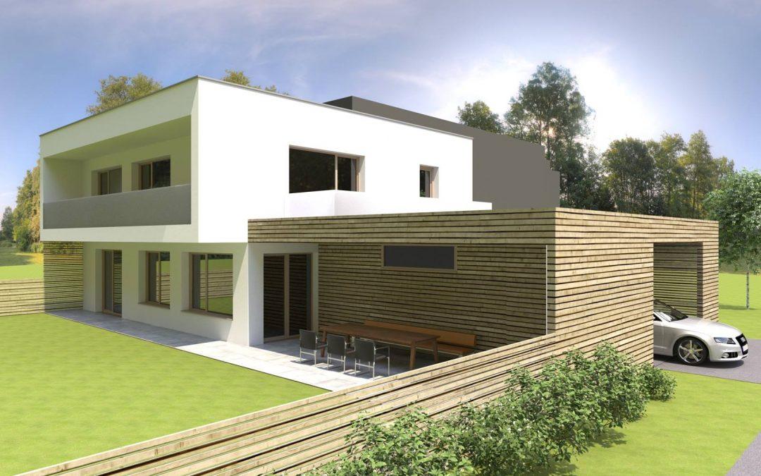Durch verschiedene Vorgaben der Baubehörde und der umgebenden Bebauung flossen in das Bauvorhaben ein.
